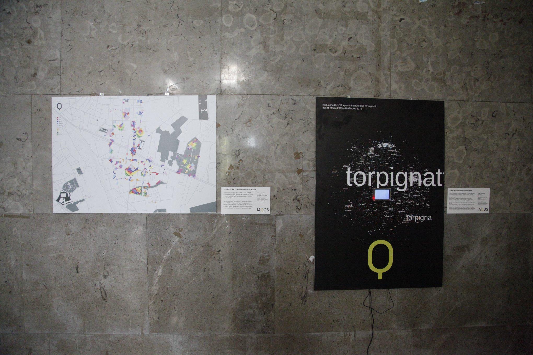 la mappa emozionale di Torpignattara creata da IAQOS, e la conoscenza dell'IA
