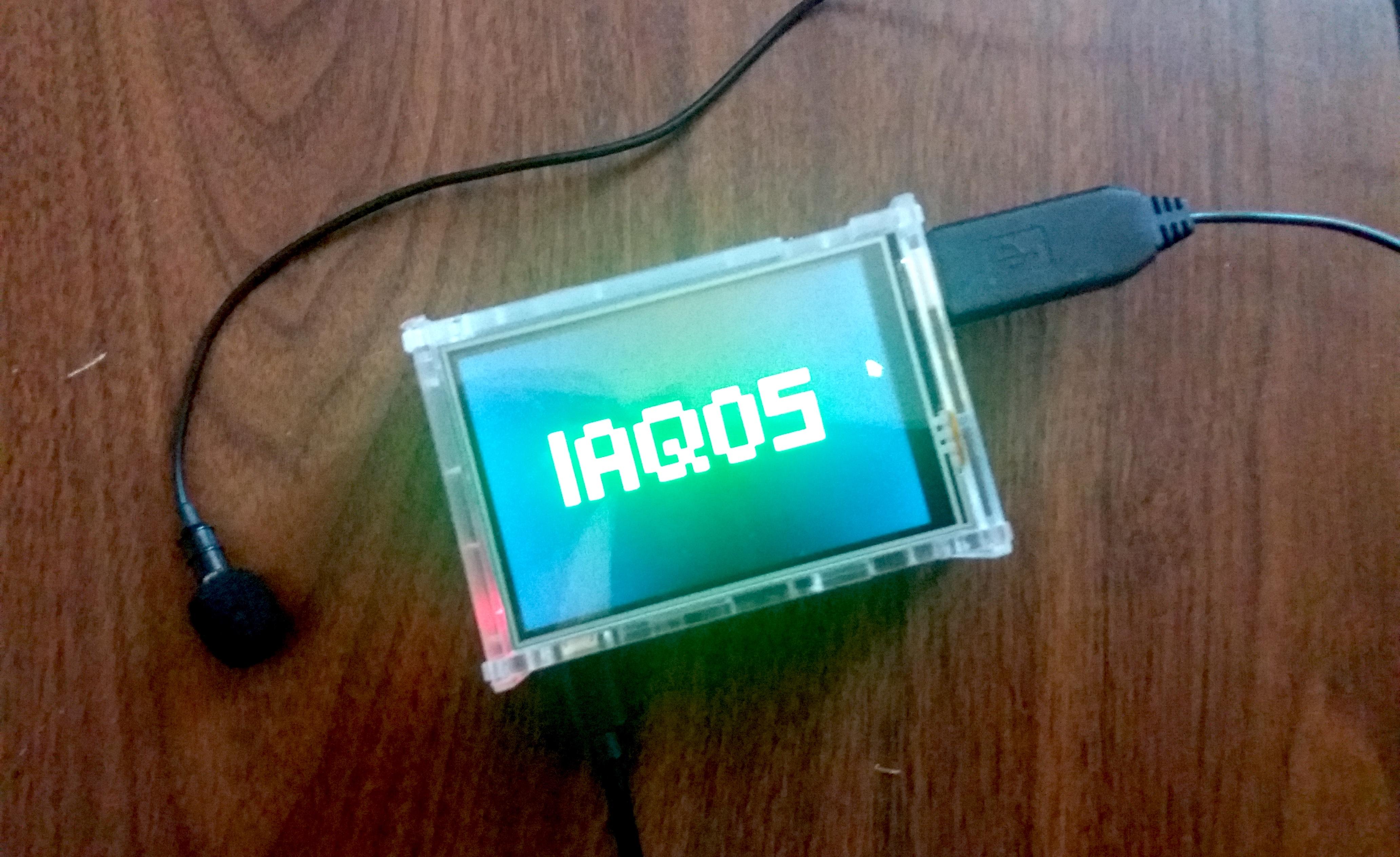 il miniscreen di IAQOS