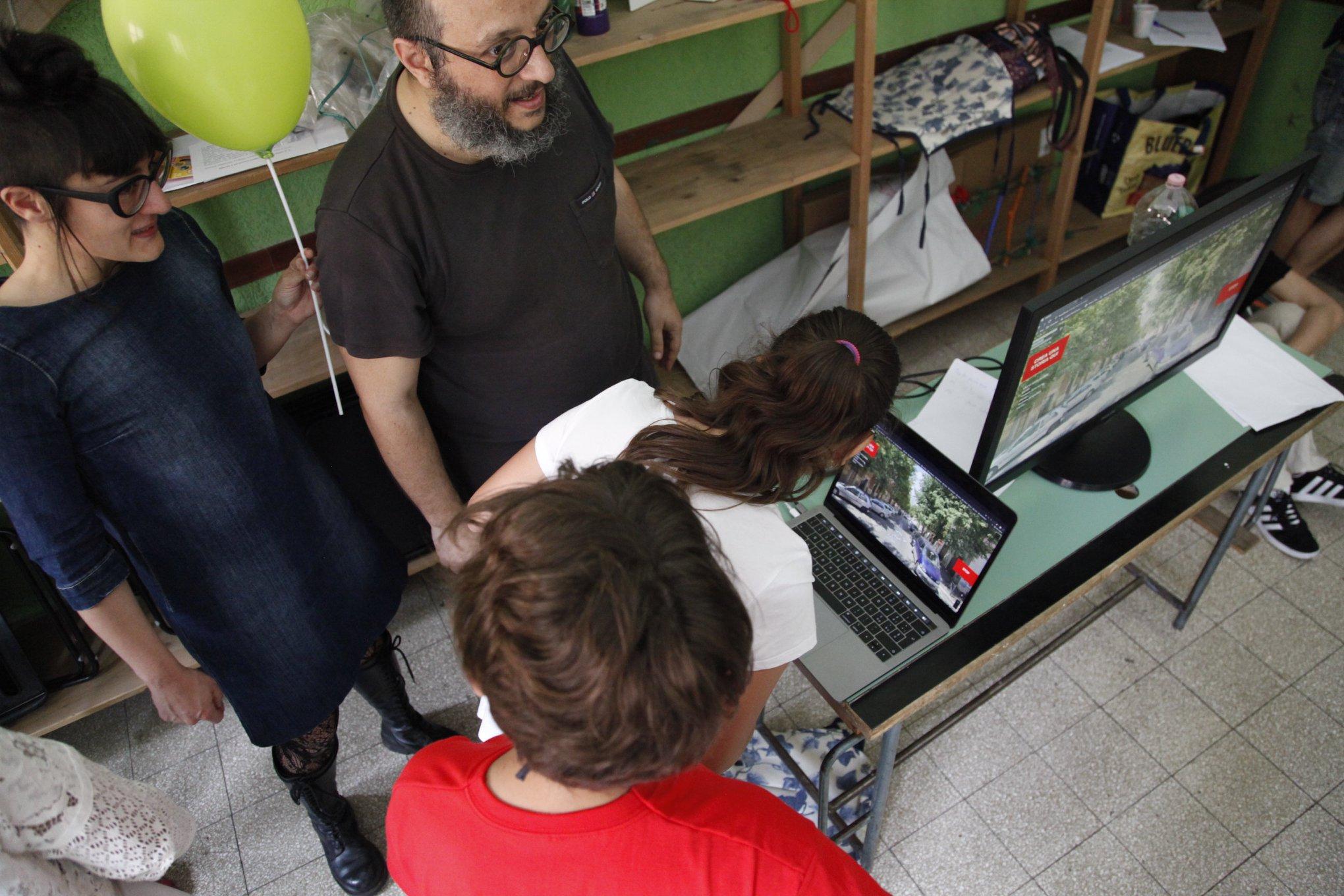 il workshop con i bambini della scuola Pisacane